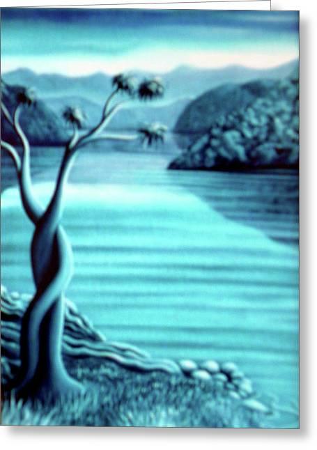 Blue In Marlborough Nz Greeting Card by Barbara Stirrup