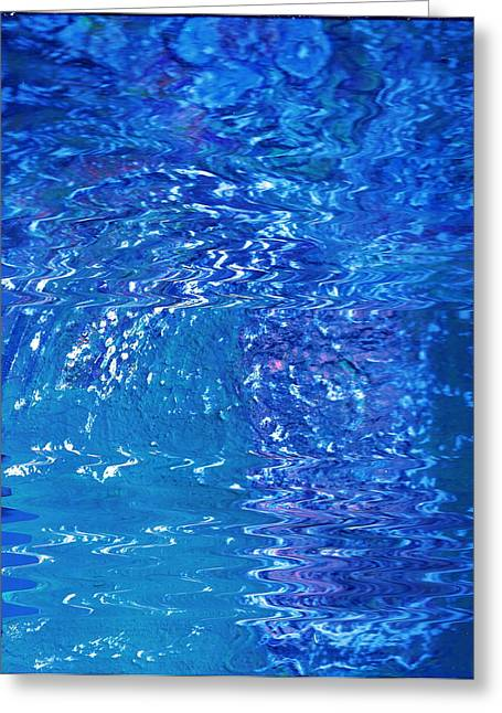 Blue Intensity Vase Y Flores Greeting Card by Anne-Elizabeth Whiteway