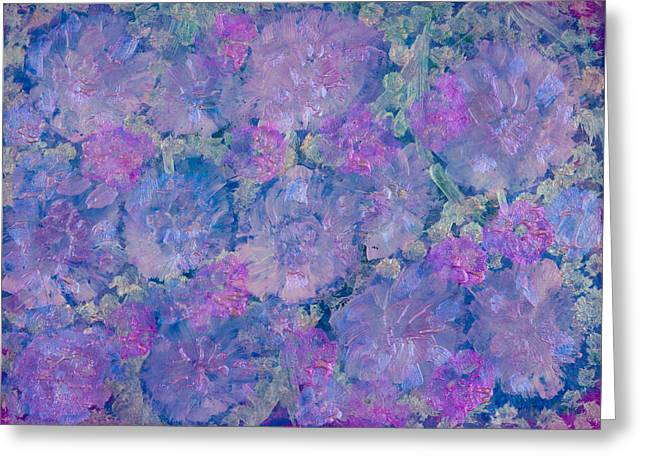 Blue Iridescent Greeting Card by Don  Wright