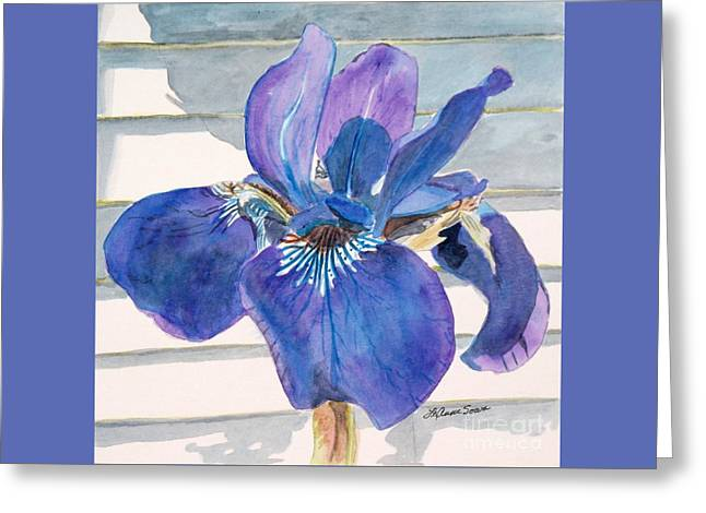 Greeting Card featuring the painting Blue Iris by LeAnne Sowa