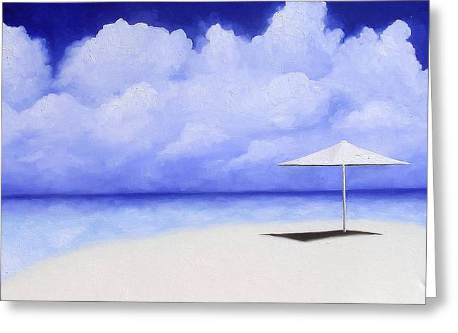 Blue Isolation Greeting Card by Trisha Lambi