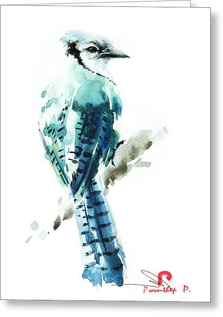 Blue Jay Bird Greeting Card
