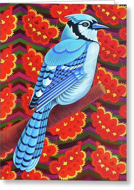Blue Jay Greeting Card by Jane Tattersfield