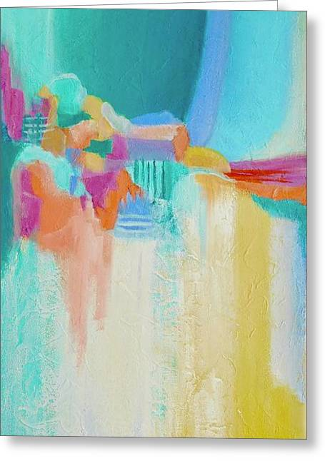 Blue Lagoon Greeting Card by Irene Hurdle