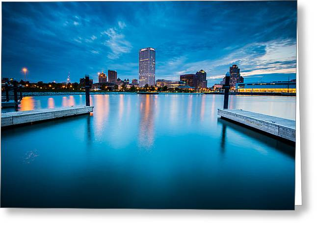 Blue Lagoon Greeting Card by Josh Eral