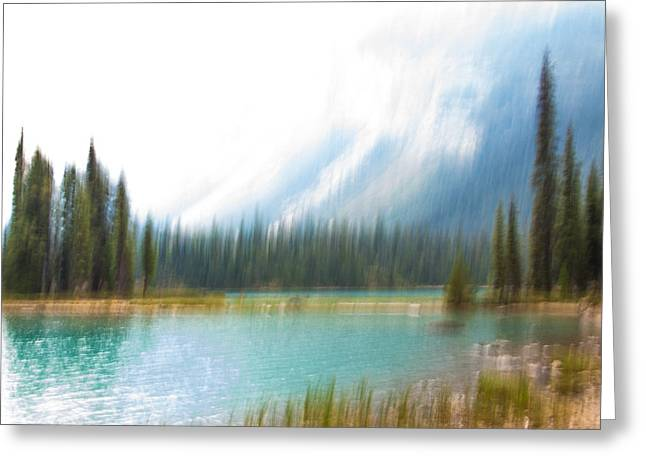 Blue Lake Greeting Card