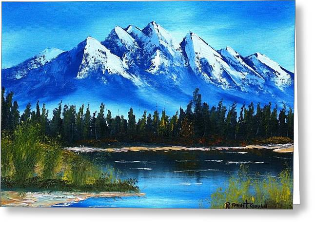 Blue Lake Greeting Card by Roy Gould