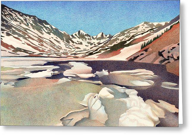 Blue Lakes Colorado Greeting Card