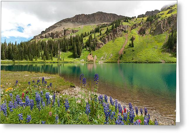 Greeting Card featuring the photograph Blue Lakes Summer Splendor by Cascade Colors
