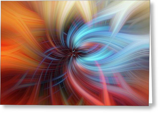Blue Light. Mystery Of Colors Greeting Card by Jenny Rainbow