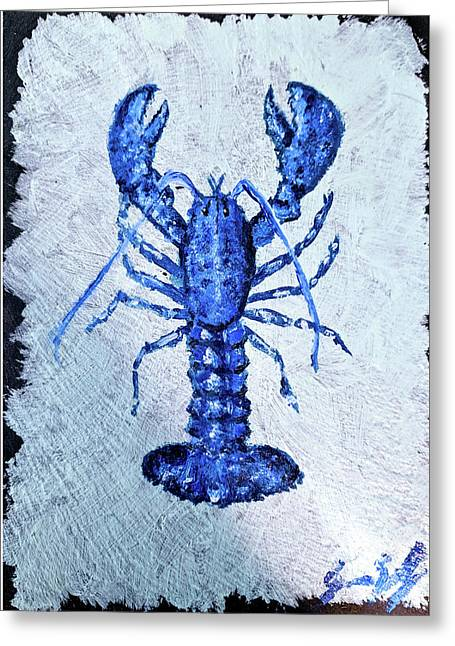 Blue Lobster 1 Greeting Card
