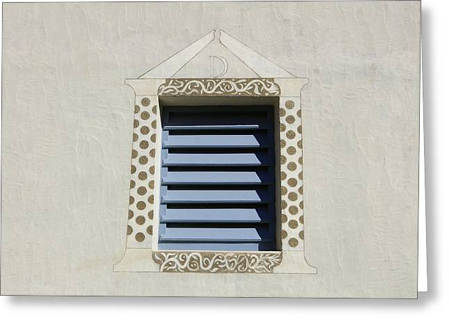 Blue Louvers Greeting Card by Tom Reynen