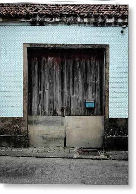 Greeting Card featuring the photograph Blue Mailbox by Marco Oliveira