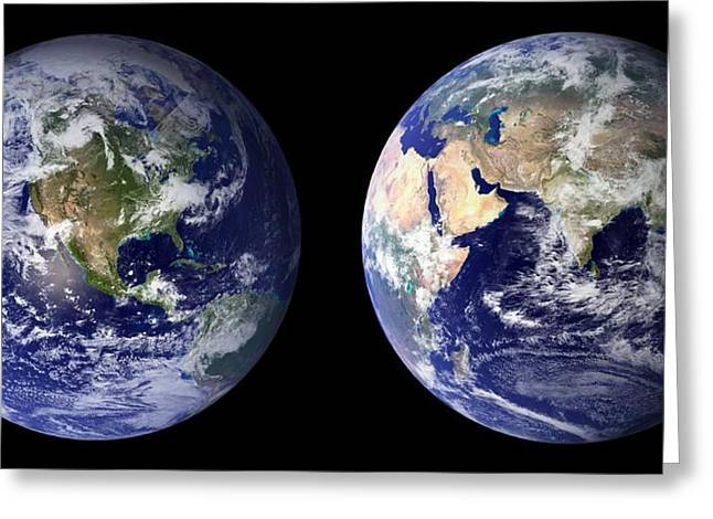 Blue Marble Greeting Card