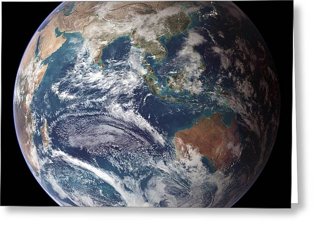Best Sellers -  - Phytoplankton Greeting Cards - Blue Marble Image Of Earth (2005) Greeting Card by Nasa Earth Observatory
