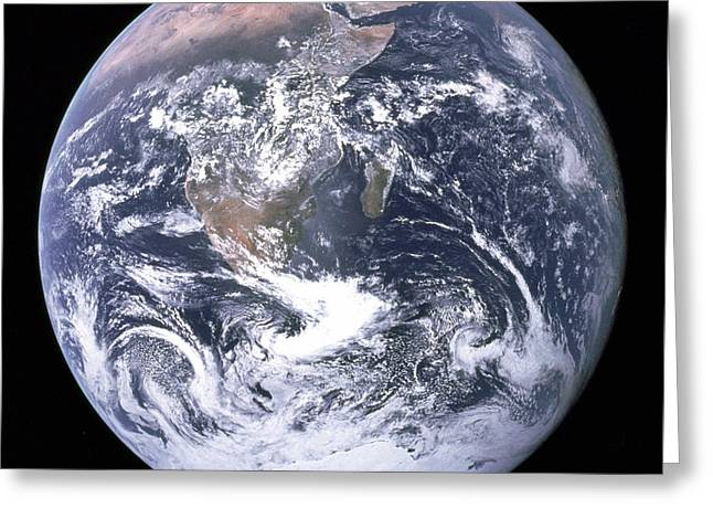 Blue Marble - Image Of The Earth From Apollo 17 Greeting Card