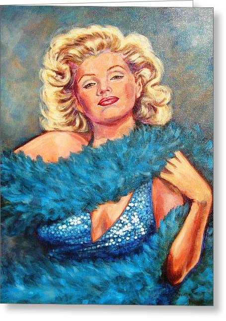 Blue Marilyn Greeting Card