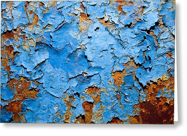 Blue  Greeting Card by Mark Weaver