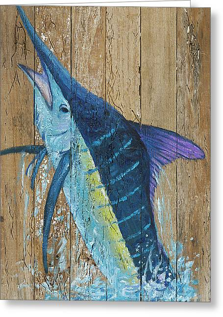 Blue Marlin Greeting Card by Danielle Perry