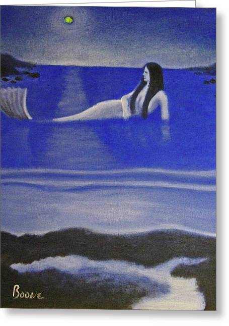 Blue Mermaid Greeting Card by Chris Boone