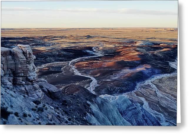 Blue Mesa Painted Desert Landscape Greeting Card by Kyle Hanson