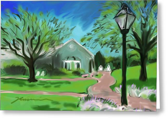 Blue Mist Cottage Chatham Bars Inn Greeting Card by Jean Pacheco Ravinski