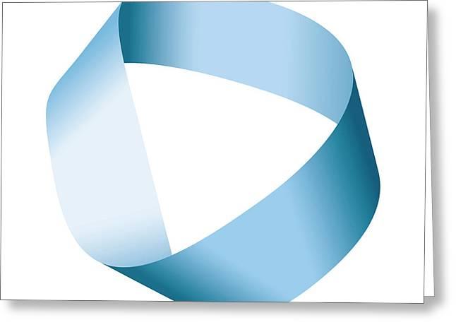 Blue Moebius Strip Or Mobius Band Greeting Card