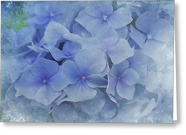 Blue Moments Greeting Card by Elaine Manley