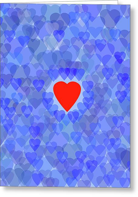 Blue Monday Greeting Card by Bruce