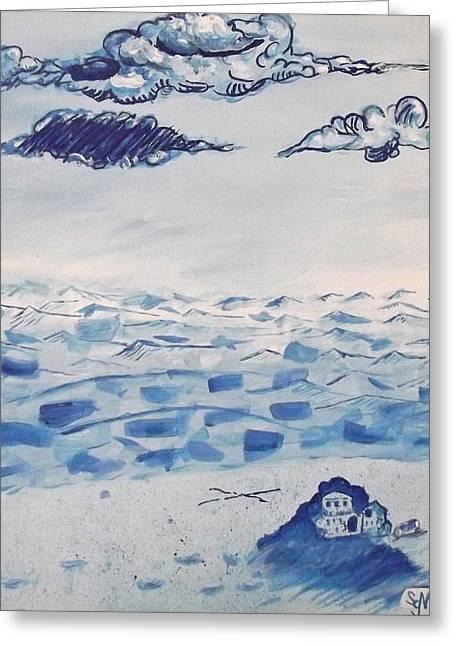 Blue Monotone  Greeting Card by Scott McBriar