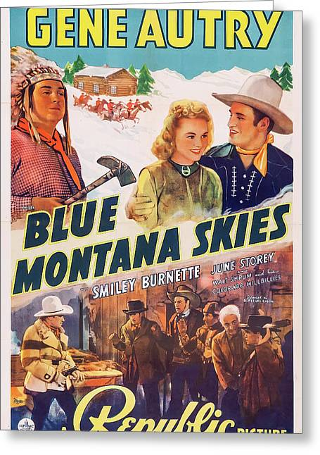 Blue Montana Skies 1939 Greeting Card by Republic