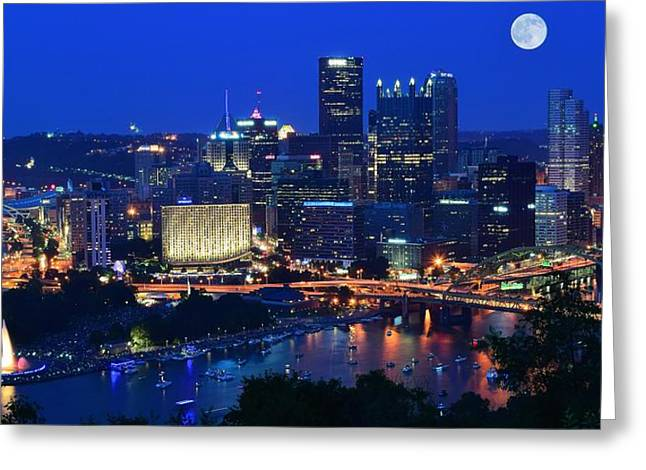 Blue Moon Greeting Card by Frozen in Time Fine Art Photography
