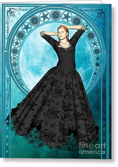Blue Moon Greeting Card by John Edwards