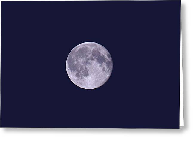 Blue Moon  Greeting Card by Lena Photo Art