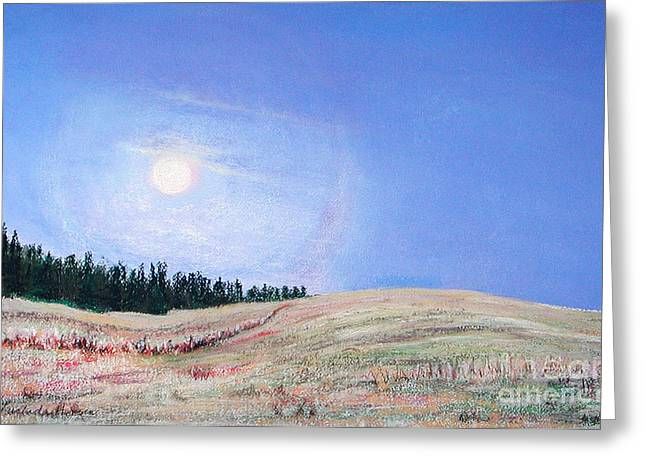 Blue Moon Greeting Card by Lucinda  Hansen