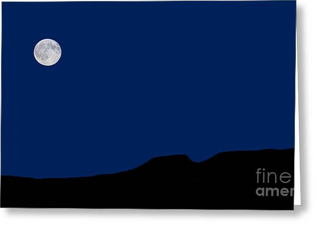 Blue Moon Rising Over The Giant Greeting Card by James Brown