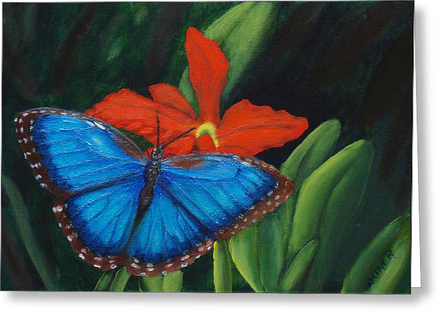 Blue Morph  Greeting Card by Darlene Green