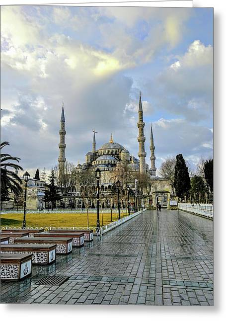 Blue Mosque Greeting Card