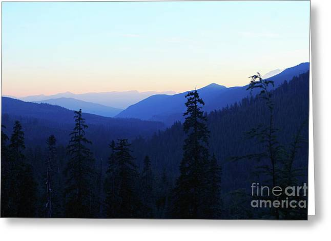Blue Mountain Layers Greeting Card
