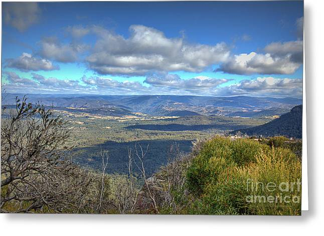 Greeting Card featuring the photograph Blue Mountains, New South Wales, Australia by Elaine Teague