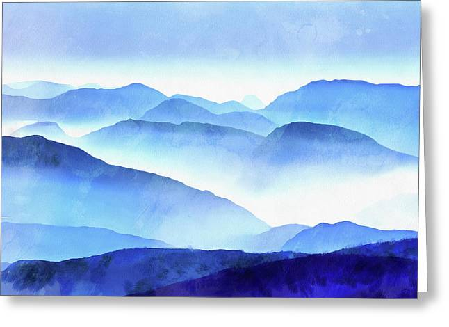 Blue Mountains Square Greeting Card