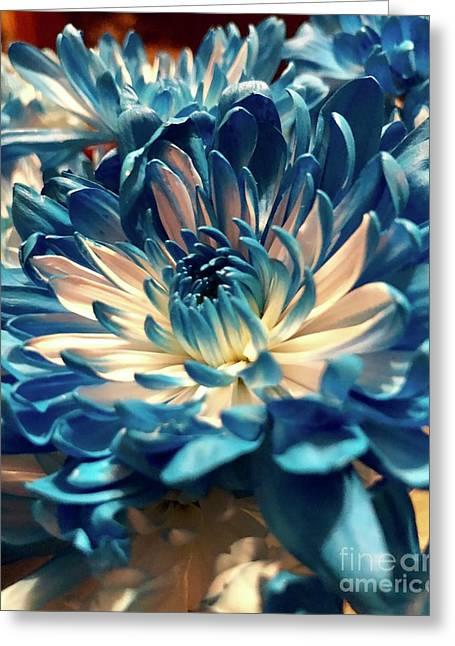Blue Mum Greeting Card