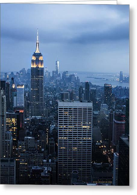 Blue New York Greeting Card