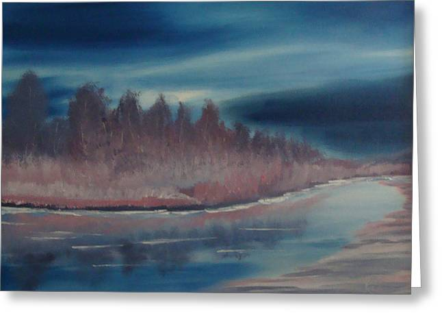 Blue Nightfall Evening Greeting Card by Rod Jellison