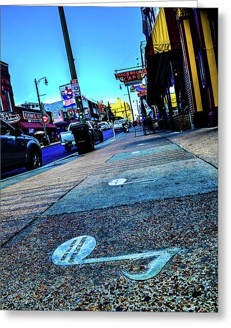Blue Notes On Beale Greeting Card