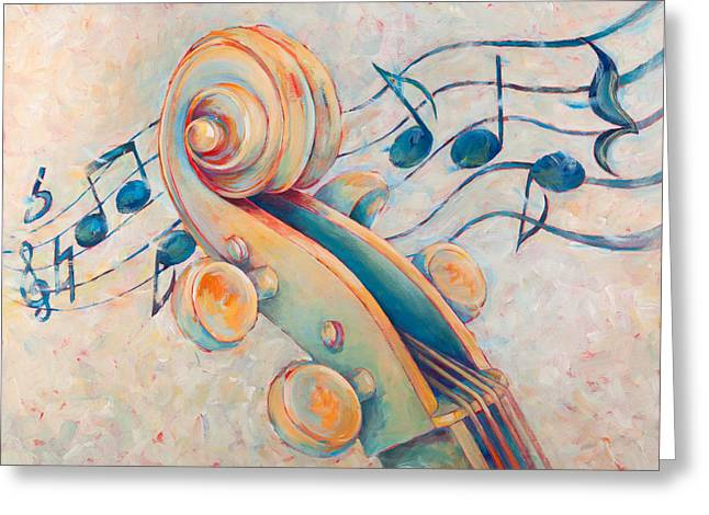 Blue Notes Greeting Card by Susanne Clark