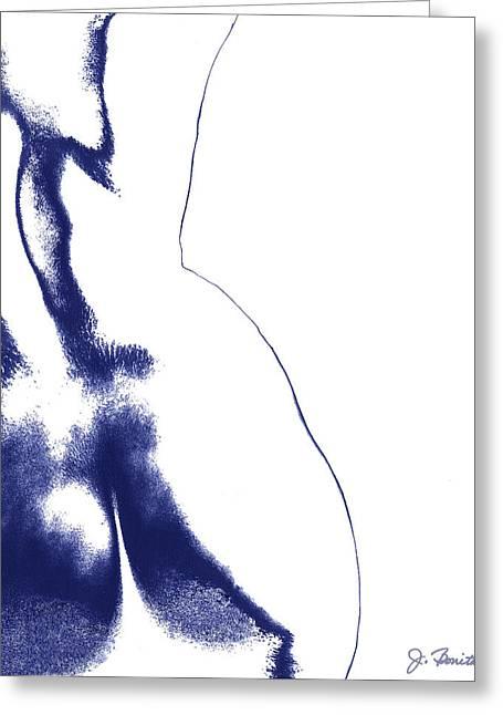 Blue Nude No. 2 Greeting Card by Joe Bonita