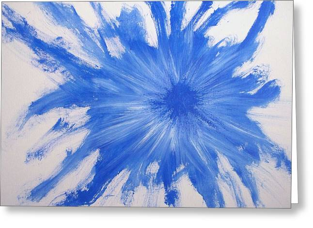 Blue Number 11 Greeting Card by Rod Schneider