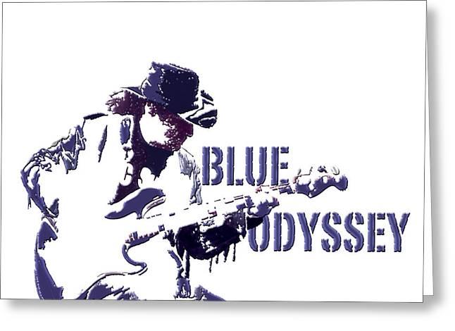 Blue Odyssey Greeting Card