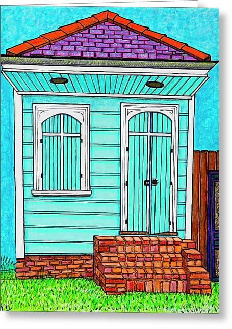 Blue Off Broad Greeting Card by Aleta Kim Lawton
